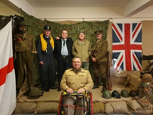 Photo of GCN Volunteers, who were asked to support the Barrack's Warrent Officer and sergeant's Mess D-Day Themed Christmas Party.