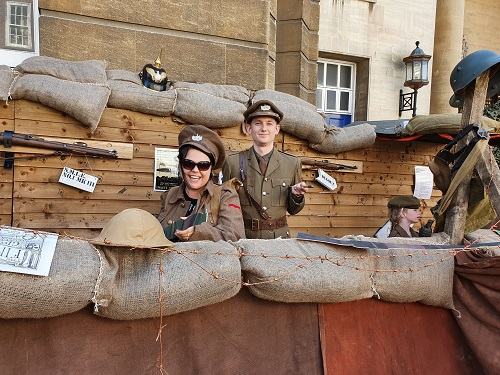 Gloucester Retro Weekend - Photo of WW1 Trench